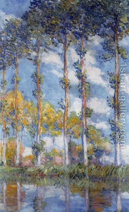 Poplars by Claude Oscar Monet - Reproduction Oil Painting