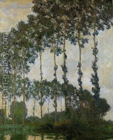 Poplars Near Giverny by Claude Oscar Monet - Reproduction Oil Painting