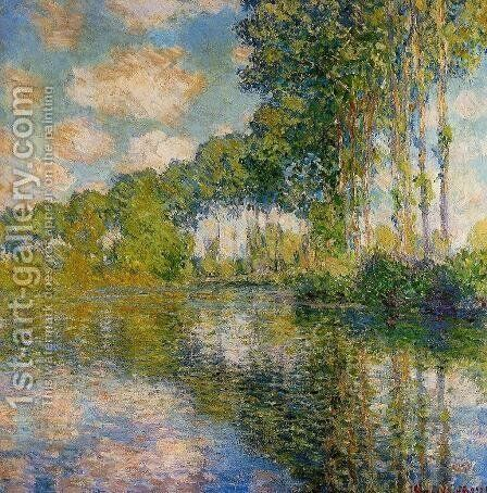 Poplars On The Banks Of The River Epte by Claude Oscar Monet - Reproduction Oil Painting
