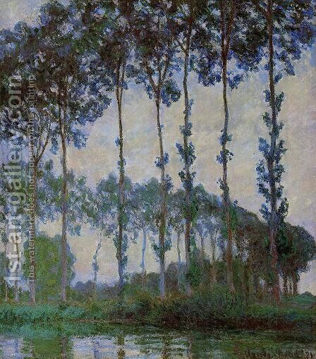 Poplars On The Banks Of The River Epte  Overcast Weather by Claude Oscar Monet - Reproduction Oil Painting