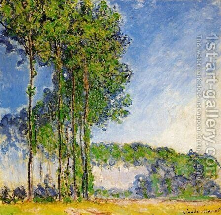 Poplars  View From The Marsh by Claude Oscar Monet - Reproduction Oil Painting