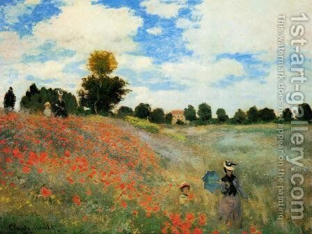 Poppies At Argenteuil by Claude Oscar Monet - Reproduction Oil Painting