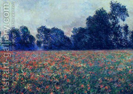 Poppies At Giverny by Claude Oscar Monet - Reproduction Oil Painting