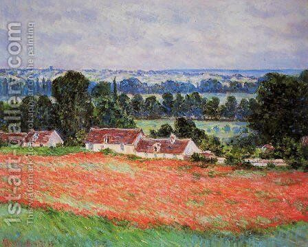Poppy Field At Giverny by Claude Oscar Monet - Reproduction Oil Painting