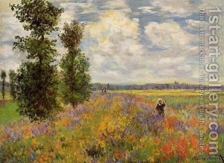 Poppy Field  Argenteuil by Claude Oscar Monet - Reproduction Oil Painting