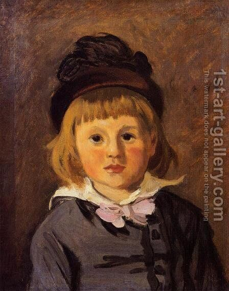 Portrait Of Jean Monet Wearing A Hat With A Pompom by Claude Oscar Monet - Reproduction Oil Painting