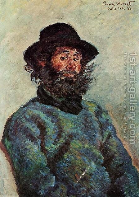 Portrait Of Poly  Fisherman At Kervillaouen by Claude Oscar Monet - Reproduction Oil Painting