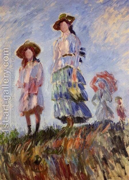 Promenade (study) by Claude Oscar Monet - Reproduction Oil Painting