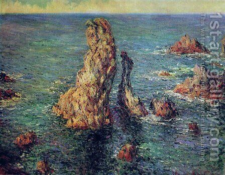 Pyramids At Port Coton by Claude Oscar Monet - Reproduction Oil Painting