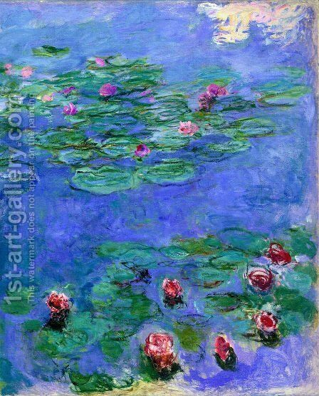 Red Water Lilies by Claude Oscar Monet - Reproduction Oil Painting