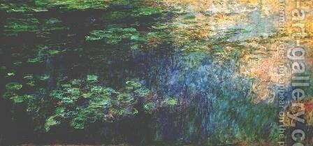 Reflections On The Water by Claude Oscar Monet - Reproduction Oil Painting