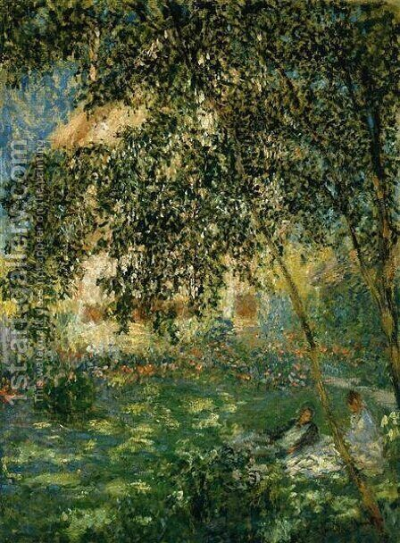 Relaxing In The Garden  Argenteuil by Claude Oscar Monet - Reproduction Oil Painting