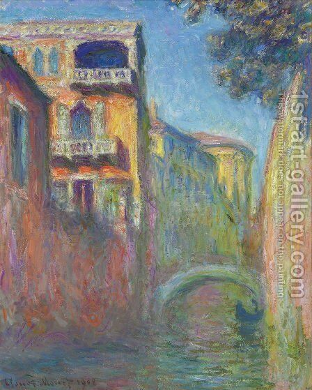 Rio Della Salute3 by Claude Oscar Monet - Reproduction Oil Painting