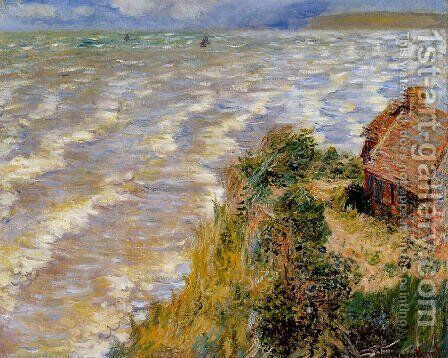 Rising Tide At Pourville by Claude Oscar Monet - Reproduction Oil Painting