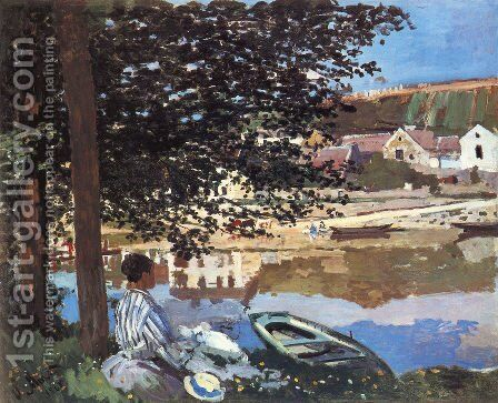River Scene At Bennecourt by Claude Oscar Monet - Reproduction Oil Painting
