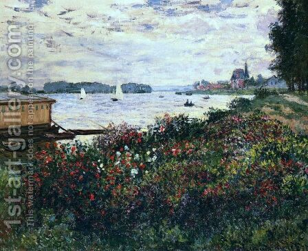 Riverbank At Argenteuil by Claude Oscar Monet - Reproduction Oil Painting
