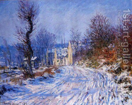 Road To Giverny In Winter by Claude Oscar Monet - Reproduction Oil Painting