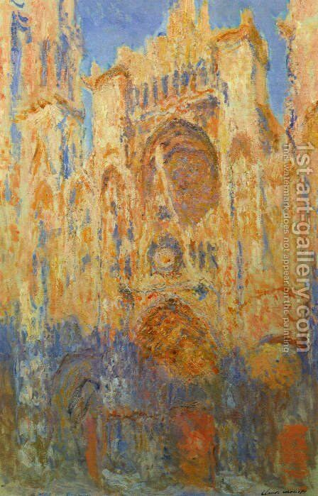 Rouen Cathedral by Claude Oscar Monet - Reproduction Oil Painting