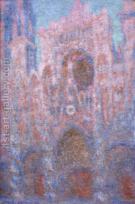 Rouen Cathedral  Symphony In Grey And Rose by Claude Oscar Monet - Reproduction Oil Painting