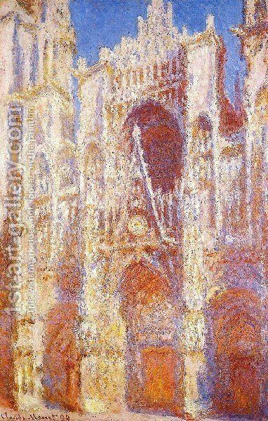 Rouen Cathedral  The Portal In The Sun by Claude Oscar Monet - Reproduction Oil Painting