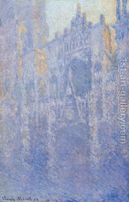 Rouen Cathedral  The Portal  Morning Fog by Claude Oscar Monet - Reproduction Oil Painting