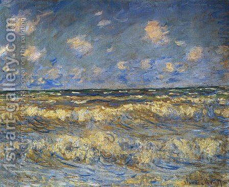 Rough Sea by Claude Oscar Monet - Reproduction Oil Painting