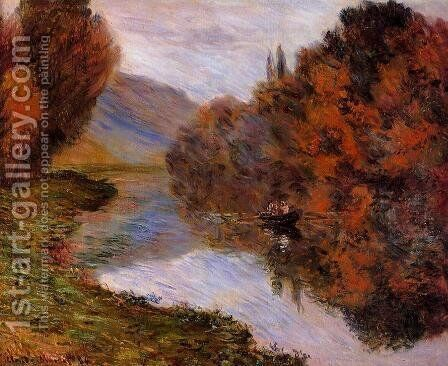 Rowboat On The Seine At Jeufosse by Claude Oscar Monet - Reproduction Oil Painting
