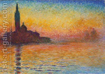 San Giorgio Maggiore At Dusk by Claude Oscar Monet - Reproduction Oil Painting