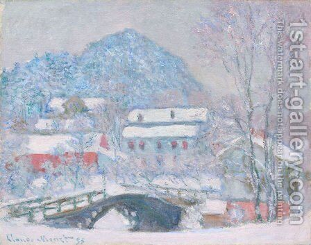Sandviken Village In The Snow by Claude Oscar Monet - Reproduction Oil Painting