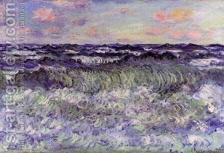Sea Study by Claude Oscar Monet - Reproduction Oil Painting