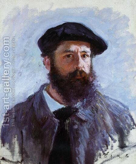 Self Portrait With A Beret by Claude Oscar Monet - Reproduction Oil Painting