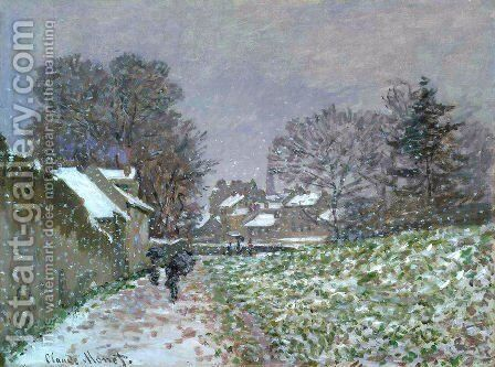 Snow At Argenteuil2 by Claude Oscar Monet - Reproduction Oil Painting