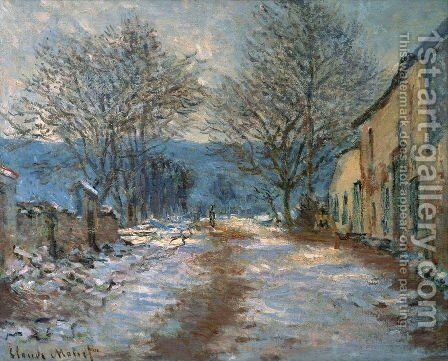 Snow Effect At Limetz by Claude Oscar Monet - Reproduction Oil Painting