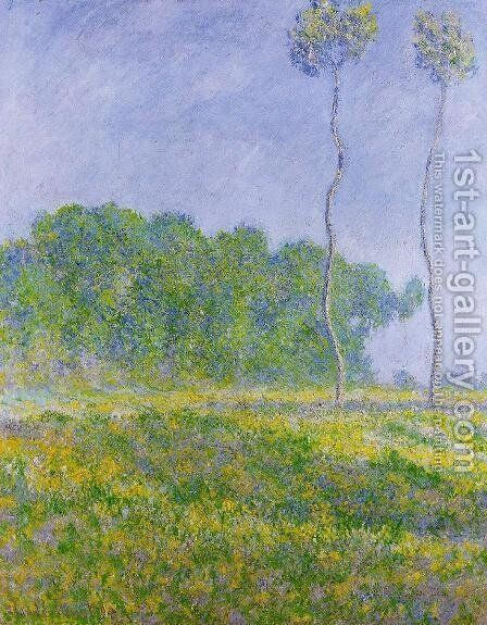 Spring Landscape by Claude Oscar Monet - Reproduction Oil Painting