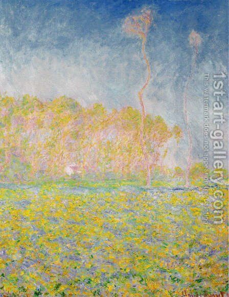 Springtime Landscape At Giverny by Claude Oscar Monet - Reproduction Oil Painting
