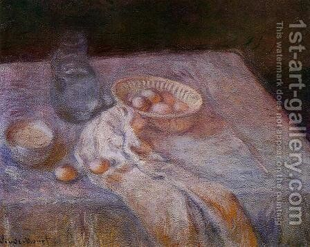 Still Life With Eggs by Claude Oscar Monet - Reproduction Oil Painting