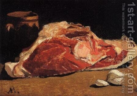 Still Life With Meat by Claude Oscar Monet - Reproduction Oil Painting