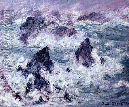 Storm At Belle Ile by Claude Oscar Monet - Reproduction Oil Painting