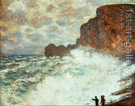 Stormy Weather At Etretat by Claude Oscar Monet - Reproduction Oil Painting