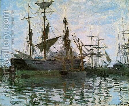 Study Of Boats Aka Ships In Harbor by Claude Oscar Monet - Reproduction Oil Painting
