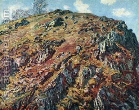 Study Of Rocks Aka Le Bloc by Claude Oscar Monet - Reproduction Oil Painting