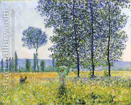 Sunlight Effect Under The Poplars by Claude Oscar Monet - Reproduction Oil Painting