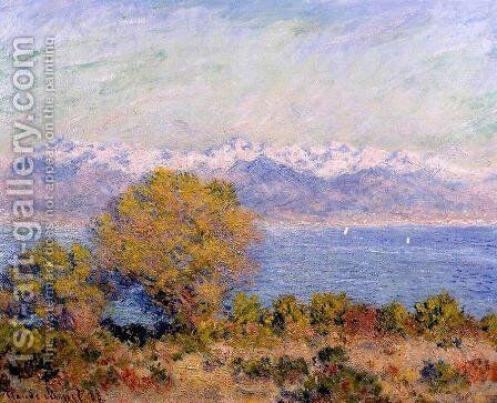 The Alps Seen From Cap D Antibes by Claude Oscar Monet - Reproduction Oil Painting