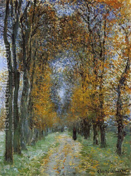 The Avenue by Claude Oscar Monet - Reproduction Oil Painting