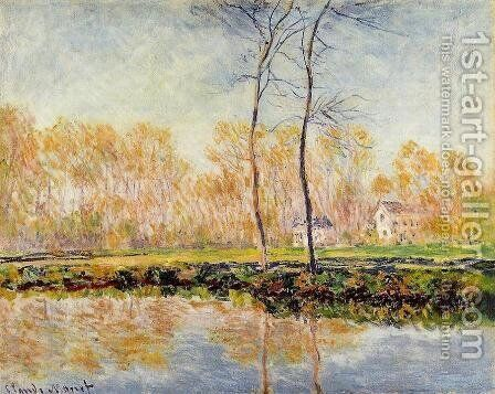 The Banks Of The River Epte At Giverny by Claude Oscar Monet - Reproduction Oil Painting