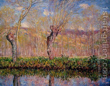 The Banks Of The River Epte In Springtime by Claude Oscar Monet - Reproduction Oil Painting