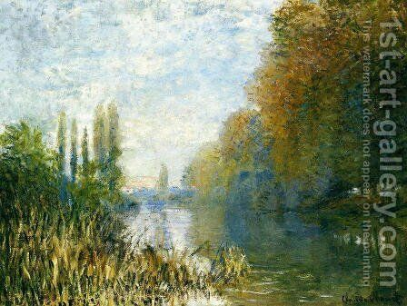 The Banks Of The Seine In Autumn by Claude Oscar Monet - Reproduction Oil Painting