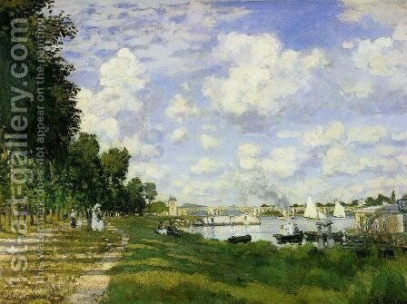 The Basin At Argenteuil by Claude Oscar Monet - Reproduction Oil Painting