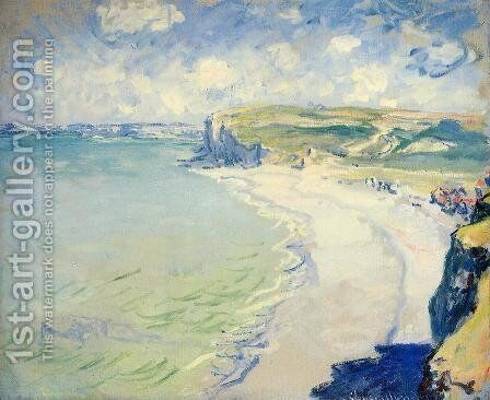 The Beach At Pourville by Claude Oscar Monet - Reproduction Oil Painting