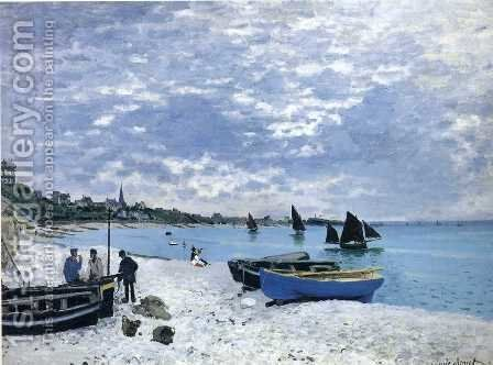 The Beach At Sainte Adresse by Claude Oscar Monet - Reproduction Oil Painting